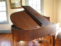 1935 burled walnut. Original ivory keys in good