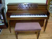 For sale a beautiful Chickering console piano. It is 18