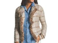 Brand new Chico's jacket with tags on. Neutral color