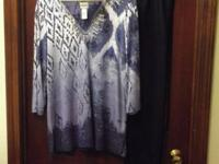 Chico's Top Size 1 Blue & White with such great colors.