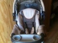 Barely used full size brown Chico stroller for pictures