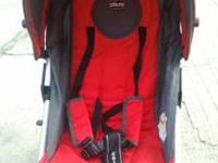 Chico single stroller in red color. This stroller has