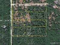 40 acres subdivided into 4-ten acre lot subdivision