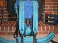 Kelty child carrier. Blue/Green/Black. Non-smoking