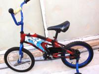 "CHILD BIKE, SPIDERMAN 16"", coaster brake, training"