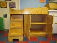 We are selling a large wooden Infant/Toddler changing
