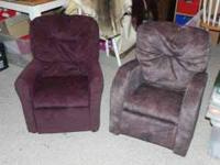 We have 2 kid-sized recliners for sale. I got these