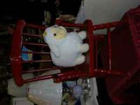 CHILD ROCKIN CHAIR OLD FROM THE 70'S RED GREAT FOR A