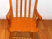 Child's Oak Rocking Chair in excellent condition. $25.