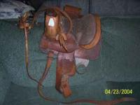 Child's Saddle & bridle. Located at: Garner's Furniture