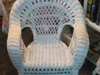 A remarkable wicker chair for a child, petunia,