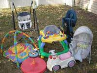 picture #1 has a: baby swing $10, sit-n-spin $5,