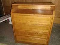 For sale is Childcraft Industries 4-Drawwer oak chest