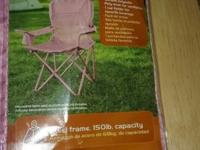 2 pink Junior Mesh Arm Chairs with carrying bags.
