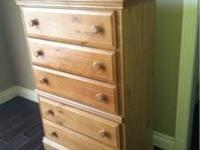 Children's dresser. Measures 33x49x16. Has a chip on