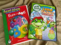 Leap Frog Letter Factory- $5  Barney- $3 each single