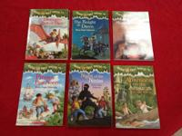 Several Magical Tree House Books.  all in excellent