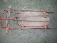 Selling as pair, or separately, 2 old wooden sleds for