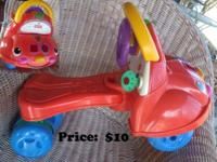Numerous riding toys-- costs on each picture. If