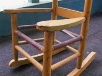 Remarkable, old Children's Rocking Chair - with peel-y