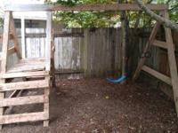Swing set has been pressure washed and needs 1 new