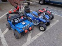 We have some wonderful powerwheel jeeps and atvs
