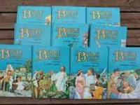 THIS IS A COMPLETE SET OF 10 BIBLE STORY BOOKS BY