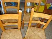 FOUR Cute chairs matching newly caned all 4 yours for