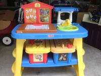 children's place set that doubles as small kitchen or