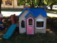 Children's playhouse, this house is all plastic and is