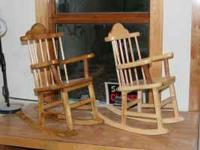 All crafts are handmade. Childrens rocking chair ages