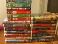 21 Childrens videos sold as a set VHS if interested