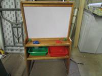 For sale is a great children's easel! Includes dry
