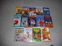 Children's VHS Lot $10.00 cash FOR THE LOT OR $1.00 A