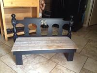 Type:Furniture Hi I hand made this bench using an old