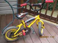 CHILDS BIKE BY ROADMASTER W/HELMET 12 1/2 WHEELS CALL