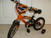 "Up for sale is a really cool pre owned 14"" Bicycle made"
