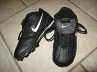 -NIKE Ribbie Jr Baseball Cleats; black; size 11: $12