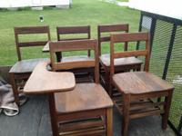 We have 5 of the small oak youngster's school desks. 2