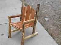 New Hand Crafted Chair From Lodge Pole Pine & Red Wood,