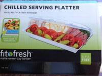 Freezable Platter with Lid. New in box. Asking $15