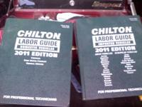 CHILTON LABOR GUIDE 2 BOOKS TOTAL DOMESTIC VEHICLES