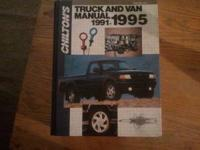 Chilton's Truck and Van Manual 1991-1995 45.00 Call