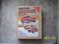 I have 3 Chilton Truck & Van repair manuals.  Each is