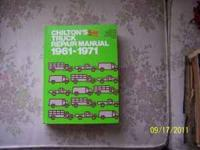 I have 3 Chilton Truck & Van repair manuals. Each is in