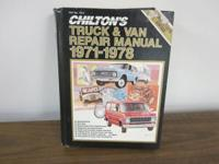 This is a Chilton's Vehicle and Van Repair work