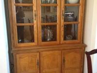 Very Nice Wood China Cabinet