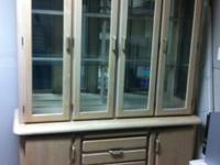 "Beautiful China Cabinet . Dimensions : 80"" high, 20 """