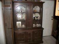 large china cabinet for sale good condition has a few