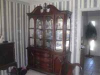 Cherry wood china cabinet from Berlin, Germany.